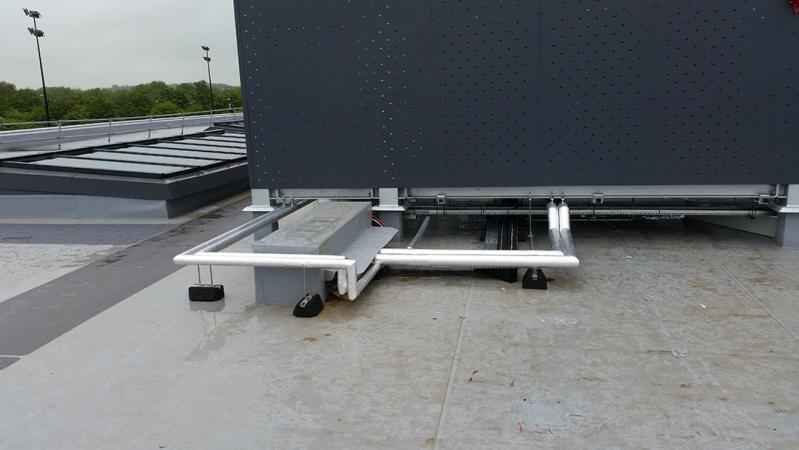 rooftop pipework