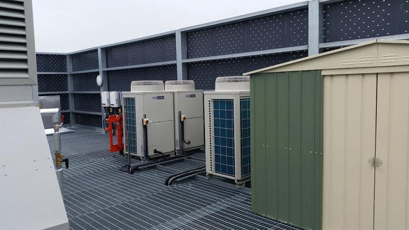 rooftop plant room condensers
